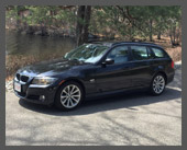 2013-present — 2011 BMW 328xi Sportwagon — Same idea and same size as the Jaguar, but ... well, I dunno about 'ultimate driving machine' but it's definitely a sportier car to drive, compared to the Jag's plushness. Plenty powerful and AWD for winter. Nice!