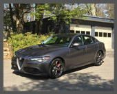 2017-present — 2017 Alfa Romeo Giulia Ti Q4 Sport — Back in the saddle again! Alfa returned to the US first with the 4C, which was too little and radical for me, and then with the Giulia sedan. Nice looks, amazing handling, brakes, performance (it's even slightly faster than my Boxster S)! Holds four, AWD, plush seating, all the modern bells & whistles. Now I can go on Alfa club events again!