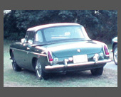 1973-1977 — 1969 MGB Roadster — Our first sports car.  British Racing Green of course.  Nice British feel, although a lot of little things always needed attention.  Brothers John and Joe also bought MGBs (John still has one).  Drove it year-round, sold to buy Alfa Spider when it got too rusty.