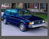 1980-1984 — 1980 Volkswagen Rabbit — Purchased new as the Vi-mobile II.  After all, we'd just been through two oil shortages, right?  Ordinary but relatively reliable transportation.   Traded in on Alfa GTV6 so Vi could have a more exciting motoring experience.